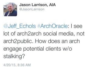 Jason Larrison asked a question using #ArchOracle